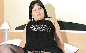 Big jugged mature Graciela gets herself all obese up