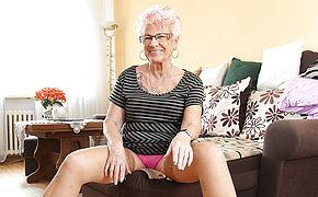 Mature Gerdi from Germany is one super naughty housewife