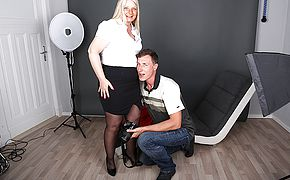 German housewife photoshoot gets out of arm