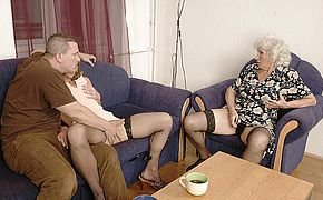 One fellow screwing a mature tramp and a Milf