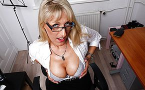 Scorching red hot German housewife heads all the way