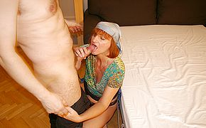 This super naughty housewife likes pummeling and blowing