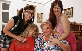 4 ultra kinky older and youthfull lesbos make it exclusive