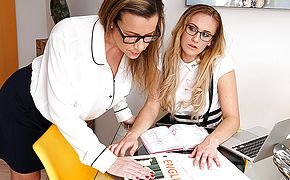 This naughty tutor has some kinky things she wants to do with her lesbian student